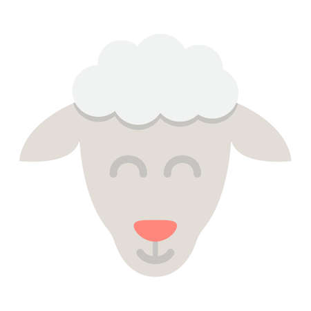 Sheep flat icon, easter and holiday, lamb sign vector graphics, a colorful solid pattern on a white background, eps 10.
