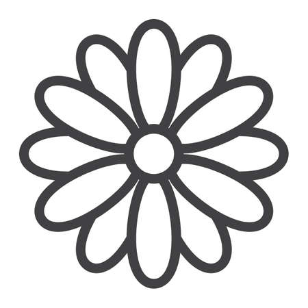Flower line icon, easter and holiday, nature sign vector graphics, a linear pattern on a white background, eps 10. Reklamní fotografie - 94595034
