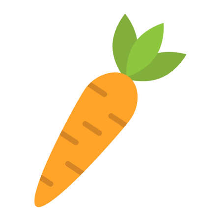Carrot flat icon, vegetable and food, diet sign vector graphics, a colorful solid pattern on a white background, eps 10. Illustration