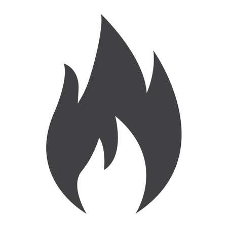 Flammable symbol glyph icon