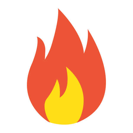 Flammable symbol flat icon, logistic and delivery, fire sign vector graphics, a colorful solid pattern on a white background