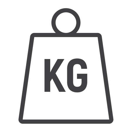 Weight symbol line icon, logistic and delivery, kilogram sign vector graphics, a linear pattern on a white background, eps 10. 일러스트