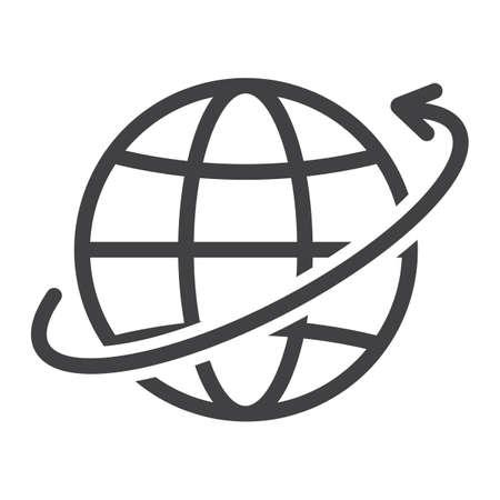 Worldwide shipping line icon