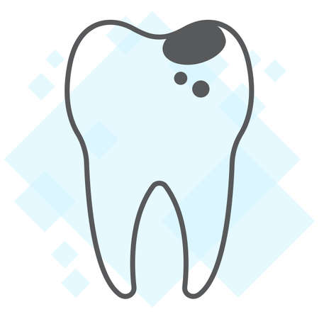 Sick tooth thin line icon, stomatology and dental, caries sign vector graphics, a linear pattern on a white background