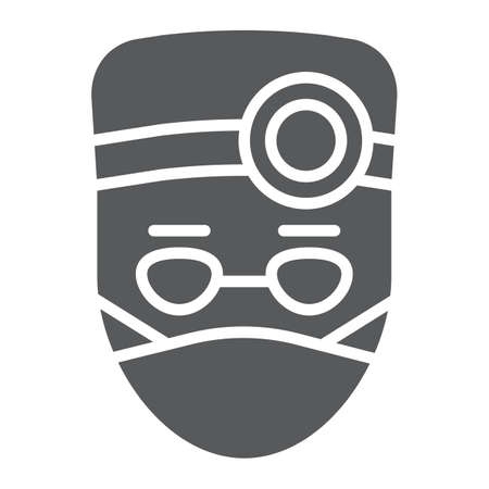 Doctor glyph icon, stomatology and dentist, medical sign vector graphics, a solid pattern on a white background, eps 10.