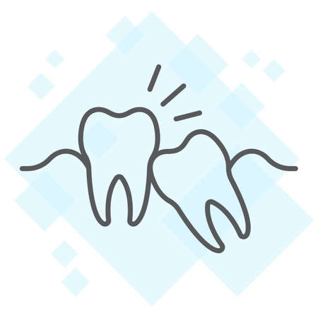 Wisdom teeth thin line icon, stomatology and dental, impacted tooth sign vector graphics, a linear pattern on a white background, eps 10. Illustration