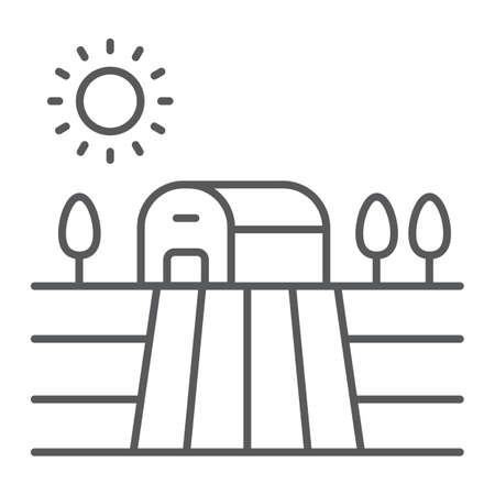 Harvest field thin line icon Ilustração