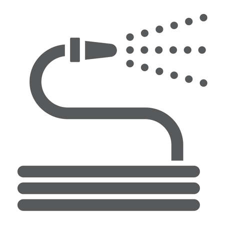 Garden hose glyph icon