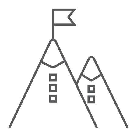Mountain sign image illustration