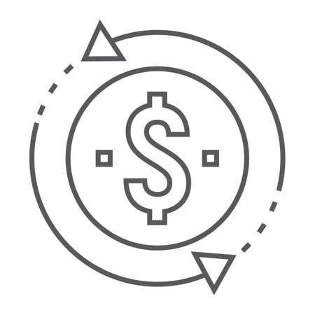 Money sign image illustration Ilustrace