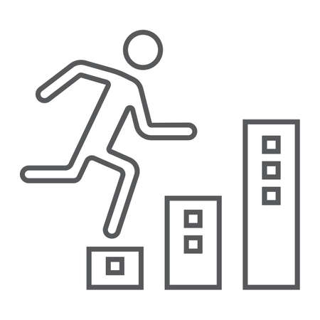 Man climbs up image illustration Illustration