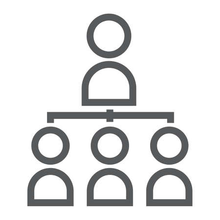 Leadership line icon illustration Ilustração