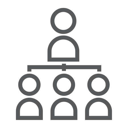 Leadership line icon illustration Illusztráció