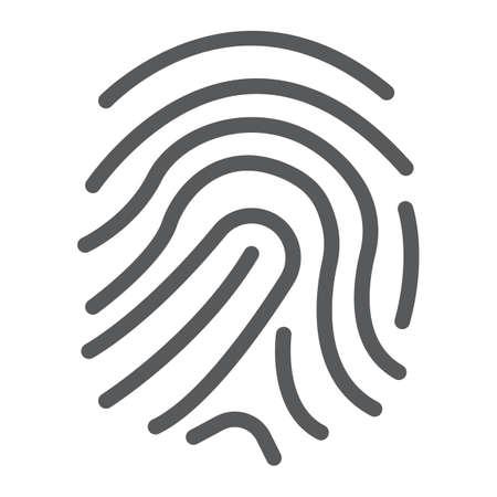 Finger print line icon illustration