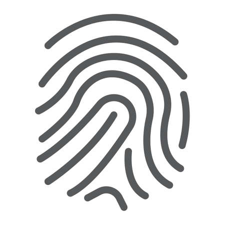 Finger print line icon illustration