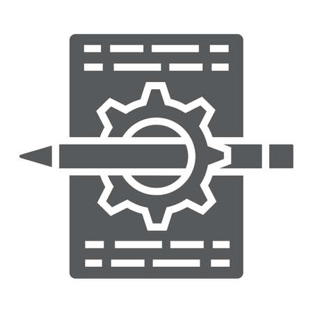 Content management glyph icon, sign vector graphics.