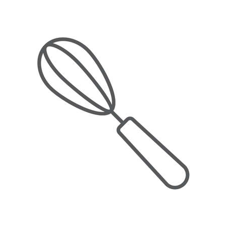 Egg beater thin line icon, kitchen and cooking, whisk sign vector graphics, a linear pattern on a white background, eps 10.