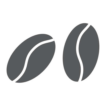 Coffee beans glyph icon, coffee and cafe, arabic sign vector graphics, a solid pattern on a white background, eps 10.