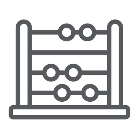 Abacus line icon, school and education, math sign vector graphics, a linear pattern on a white background, eps 10.