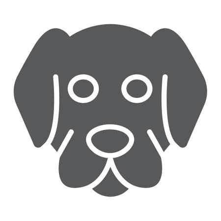 Dog glyph icon, animal and zoo, mammal sign vector graphics, a solid pattern on a white background, eps 10.