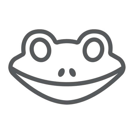 Frog line icon, animal and zoo, amphibian sign vector graphics, a linear pattern on a white background, eps 10.
