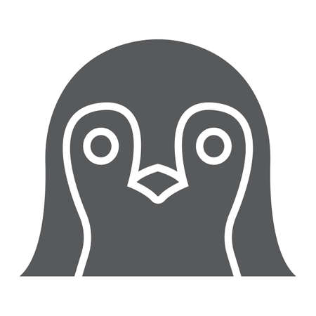 Penguin glyph icon, animal and zoo, bird sign vector graphics, a solid pattern on a white background, eps 10.