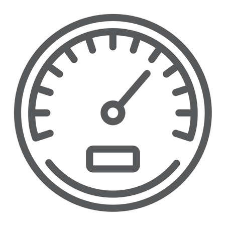 Tacho-Liniensymbol, Daten und Analysen, Geschwindigkeitszeichen, Vektorgrafiken, ein lineares Muster auf weißem Hintergrund, eps 10. Vektorgrafik