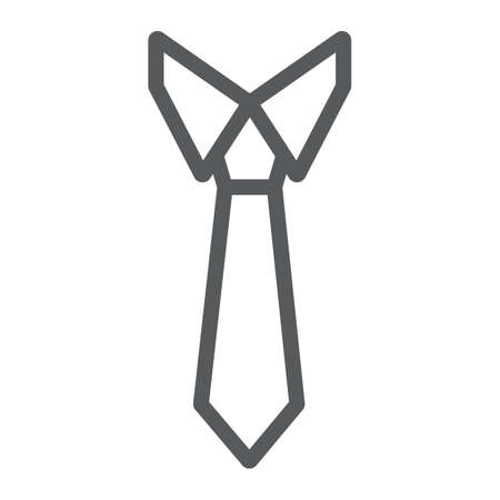 Tie line icon, office and business, necktie sign, vector graphics, a linear pattern on a white background, eps 10.  イラスト・ベクター素材