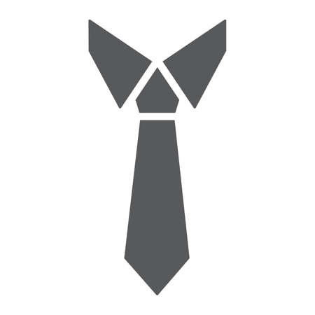 Tie glyph icon, office and business, necktie sign, vector graphics, a solid pattern on a white background, eps 10.