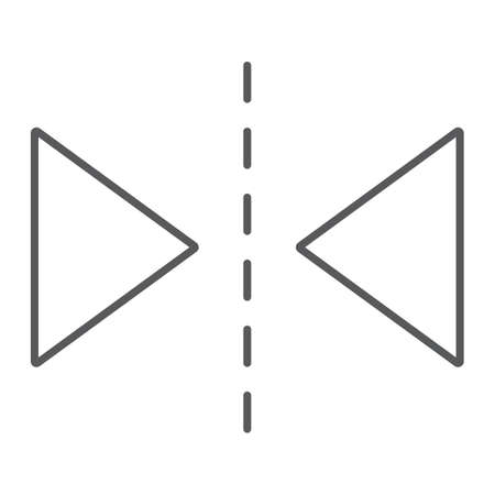 Reflection tool thin line icon, tools and design, sign, vector graphics, a linear pattern on a white background, eps 10.