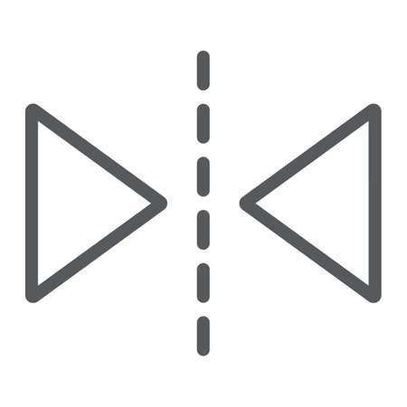 Reflection tool line icon, tools and design, mirror sign, vector graphics, a linear pattern on a white background, eps 10. Иллюстрация