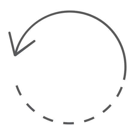 Rotate thin line icon, tools and design, circle sign, vector graphics, a linear pattern on a white background, eps 10. Ilustração