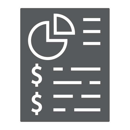 Budget planing glyph icon, finance and banking, account sign, vector graphics, a solid pattern on a white background, eps 10. Illustration