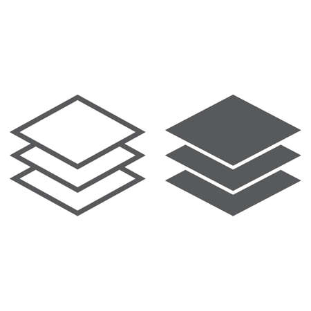 Layers line and glyph icon, tools and design, instruments sign, vector graphics, a linear pattern on a white background, eps 10.
