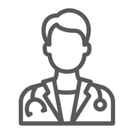 Hospital, medicina e icono de línea médico