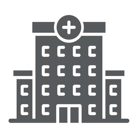 Hospital glyph icon, architecture and building Stock Photo