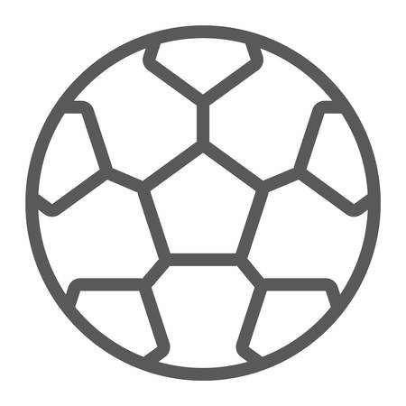 Soccer ball line icon, game and sport, football ball sign, vector graphics, a linear pattern on a white background, eps 10. 일러스트