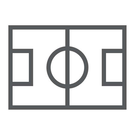 Soccer field line icon, game and sport, playing field sign, vector graphics, a linear pattern on a white background, eps 10. 向量圖像