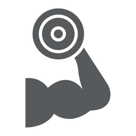 筋肉の成長トレーニンググリフアイコン
