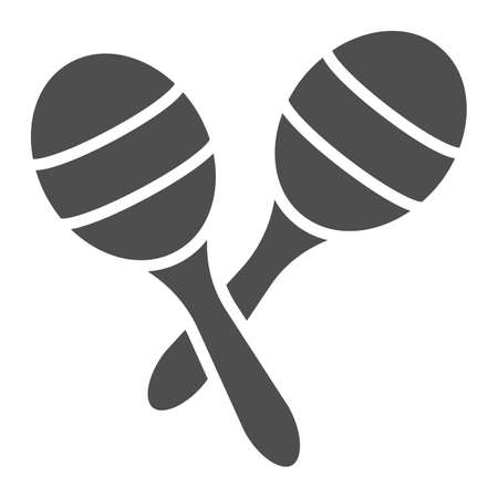 Maracas glyph icon, music and mexican, instrument sign, vector graphics, a solid pattern on a white background.
