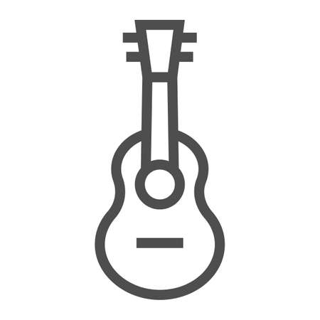 Ukulele line icon, music and string, guitar sign, vector graphics, a linear pattern on a white background.