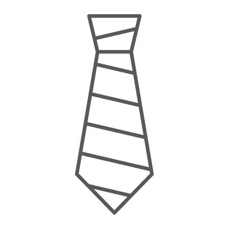 Tie thin line icon, clothing and formal, necktie sign, vector graphics, a linear pattern on a white background, eps 10.