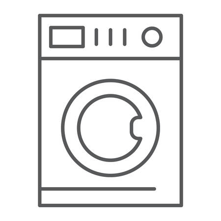 Car washing thin line icon, laundry and clean, washing machine sign, vector graphics, a linear pattern on a white background, eps 10.