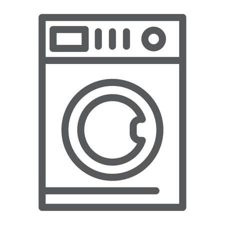 Autowaschlinie Symbol, Wäsche und sauber, Waschmaschinenzeichen, Vektorgrafiken, ein lineares Muster auf weißem Hintergrund, eps 10.