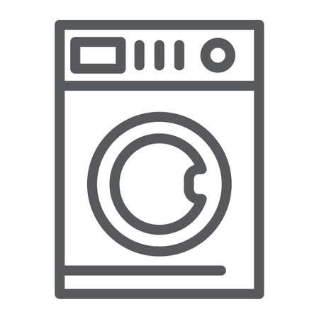 Car washing line icon, laundry and clean, washing machine sign, vector graphics, a linear pattern on a white background, eps 10.