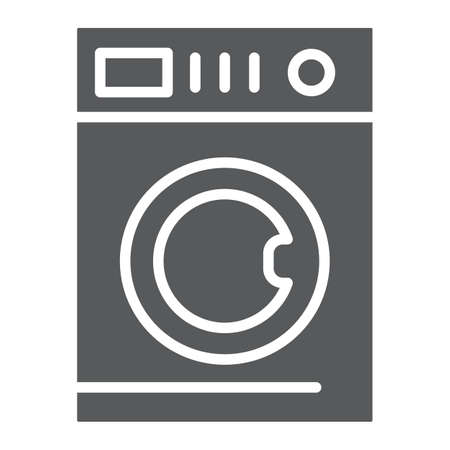 Car washing glyph icon, laundry and clean, washing machine sign, vector graphics, a solid pattern on a white background, eps 10. 일러스트