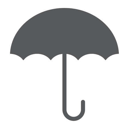 Keep dry glyph icon, packaging and label, umbrella sign, vector graphics, a solid pattern on a white background, eps 10.