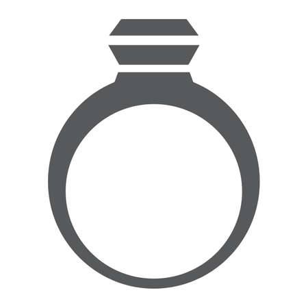 Ring glyph icon, jewelry and accessory, jewel sign, vector graphics, a solid pattern on a white background, eps 10.