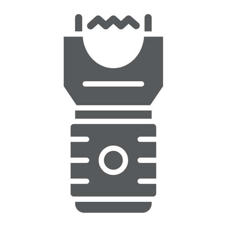 Electroshock weapon glyph icon, protection and security, firearm sign, vector graphics, a solid pattern on a white background, eps 10. Ilustração