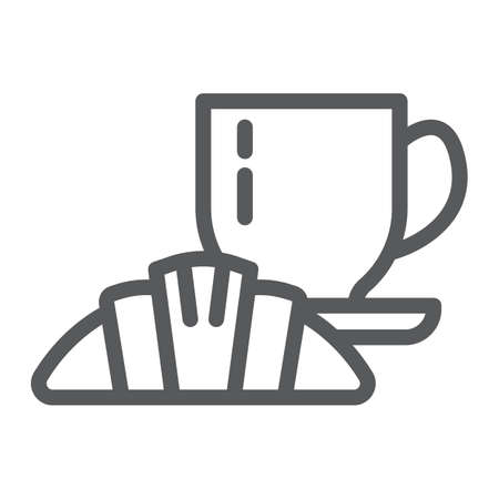 Restaurant line icon, eat and food, cafe sign, vector graphics, a linear pattern on a white background, eps 10.